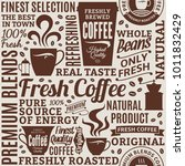 typographic vector coffee shop...