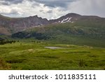 view of alpine scenery from... | Shutterstock . vector #1011835111