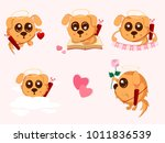 set of stickers  valentine's... | Shutterstock .eps vector #1011836539