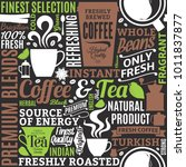 typographic vector coffee and... | Shutterstock .eps vector #1011837877