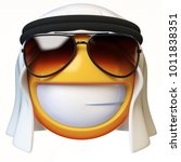 cool arab emoji isolated on... | Shutterstock . vector #1011838351