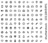 set of 100 icons for simple... | Shutterstock .eps vector #1011845491