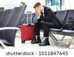delayed flight   business... | Shutterstock . vector #1011847645