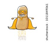 vector funny cartoon cute brown ... | Shutterstock .eps vector #1011849061