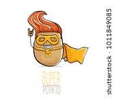 vector funny cartoon cute brown ...   Shutterstock .eps vector #1011849085