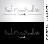 cities of europe. madrid... | Shutterstock .eps vector #1011850954