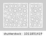 template for cutting. round art ...   Shutterstock .eps vector #1011851419