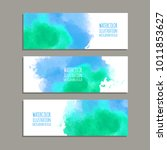 vector banner shapes collection ... | Shutterstock .eps vector #1011853627