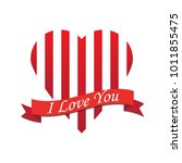 happy valentines day card with... | Shutterstock .eps vector #1011855475