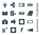 electricity icons. set of 16...   Shutterstock .eps vector #1011856369
