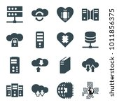 server icons. set of 16... | Shutterstock .eps vector #1011856375