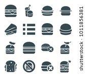 hamburger icons. set of 16... | Shutterstock .eps vector #1011856381