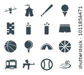 recreation icons. set of 16...   Shutterstock .eps vector #1011856471