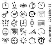 Time Icons. Set Of 25 Editable...