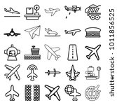 plane icons. set of 25 editable ... | Shutterstock .eps vector #1011856525