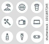 vector illustration of 9... | Shutterstock .eps vector #1011857245