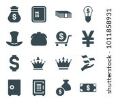 wealth icons. set of 16... | Shutterstock .eps vector #1011858931