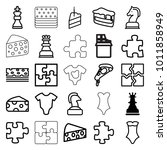 piece icons. set of 25 editable ... | Shutterstock .eps vector #1011858949