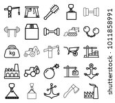 heavy icons. set of 25 editable ... | Shutterstock .eps vector #1011858991
