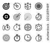 accurate icons. set of 16...   Shutterstock .eps vector #1011859489