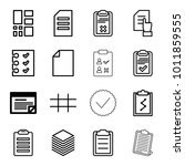 list icons. set of 16 editable... | Shutterstock .eps vector #1011859555