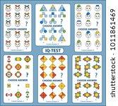 iq test. choose correct answer. ... | Shutterstock .eps vector #1011861469