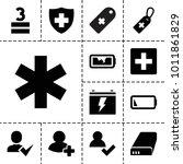 plus icons. set of 13 editable...   Shutterstock .eps vector #1011861829