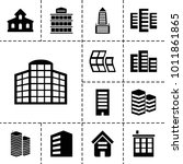headquarters icons. set of 13... | Shutterstock .eps vector #1011861865