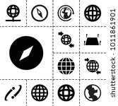 geography icons. set of 13... | Shutterstock .eps vector #1011861901