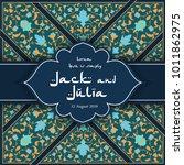 arabic floral pattern in...   Shutterstock .eps vector #1011862975