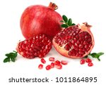 pomegranate isolated on white... | Shutterstock . vector #1011864895