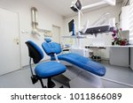 dental ordination with blue... | Shutterstock . vector #1011866089