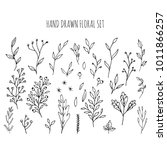 collection of hand drawn vector ... | Shutterstock .eps vector #1011866257