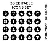 piece icons. set of 20 editable ... | Shutterstock .eps vector #1011866581