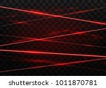 abstract red laser beams.... | Shutterstock .eps vector #1011870781