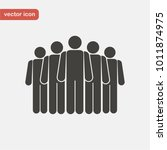 people icon. crowd sing | Shutterstock .eps vector #1011874975