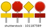 set of blank traffic sign... | Shutterstock . vector #101187589