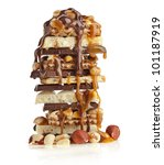 Stack Of Chocolate And Caramel...