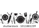 cooking pattern. background for ... | Shutterstock .eps vector #1011881239