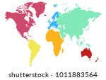 world map. europe asia america... | Shutterstock .eps vector #1011883564