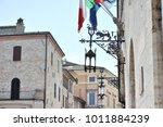 medieval street in the italian...   Shutterstock . vector #1011884239