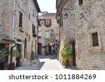 medieval street in the italian...   Shutterstock . vector #1011884269