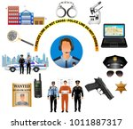 police professional equipment... | Shutterstock .eps vector #1011887317