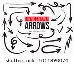 Vector Hand Drawn Arrows Set....