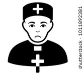 sadly priest doctor vector icon.... | Shutterstock .eps vector #1011892381