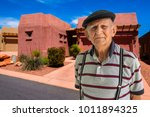 elderly 80 plus year old man... | Shutterstock . vector #1011894325