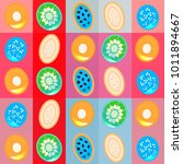 background with flat colorful... | Shutterstock . vector #1011894667