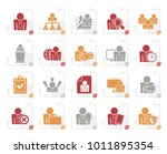stylized human resource and... | Shutterstock .eps vector #1011895354