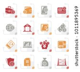 stylized financial  banking and ...   Shutterstock .eps vector #1011895369