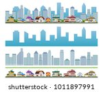urban cityscape with large... | Shutterstock .eps vector #1011897991